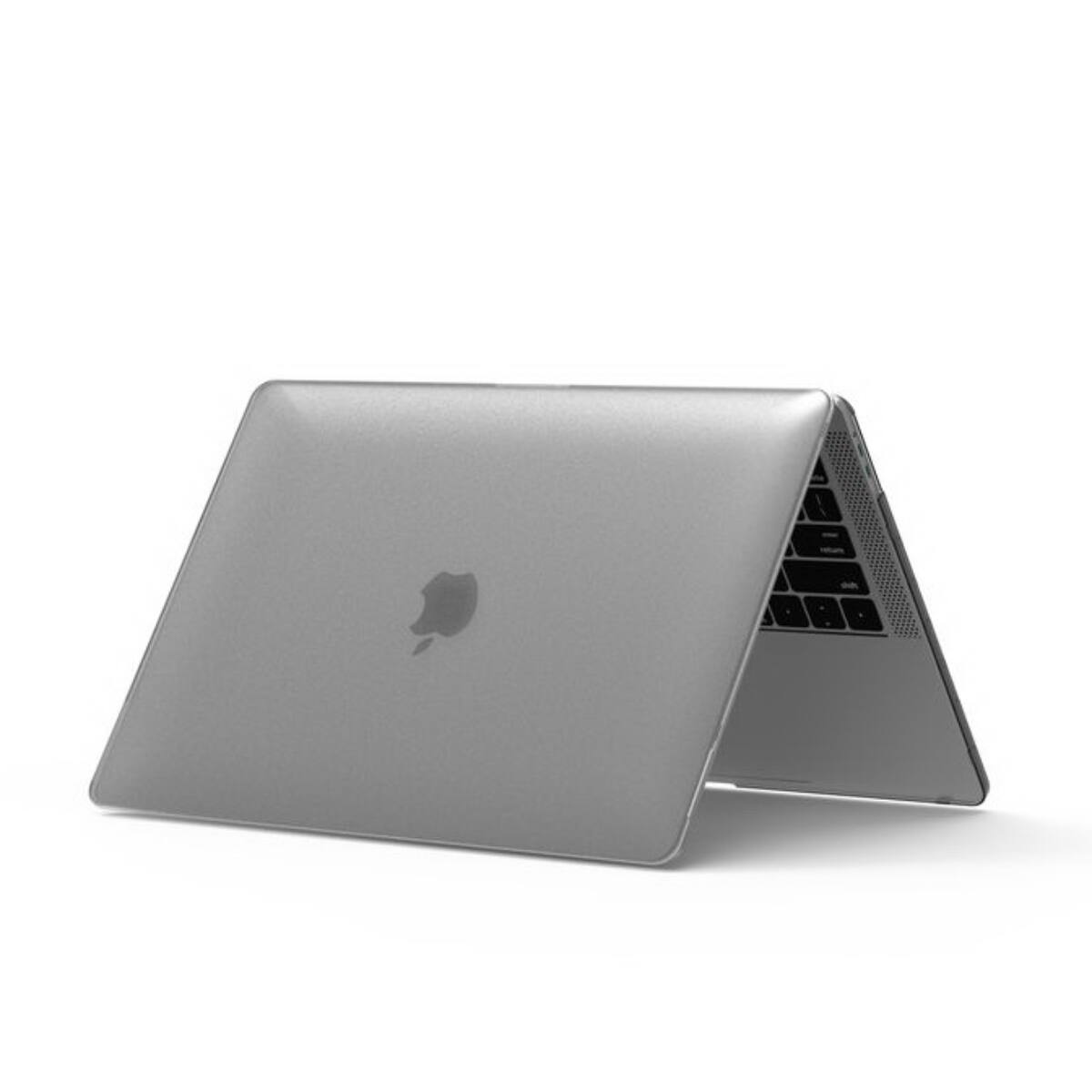 WiWU MacBook 12 inch (2015-2018) tok, iSHIELD Hard Shell borító, Fehér átlátszó