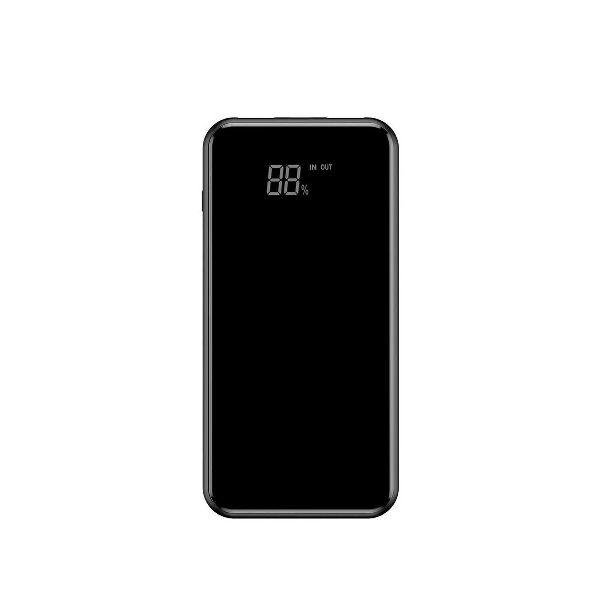 Baseus Power Bank vezeték nélküli töltés Full screen (Micro USB bemenet / dupla USB kimenet), 2A, 8.000 mAh, fekete (PPALL-EX01)