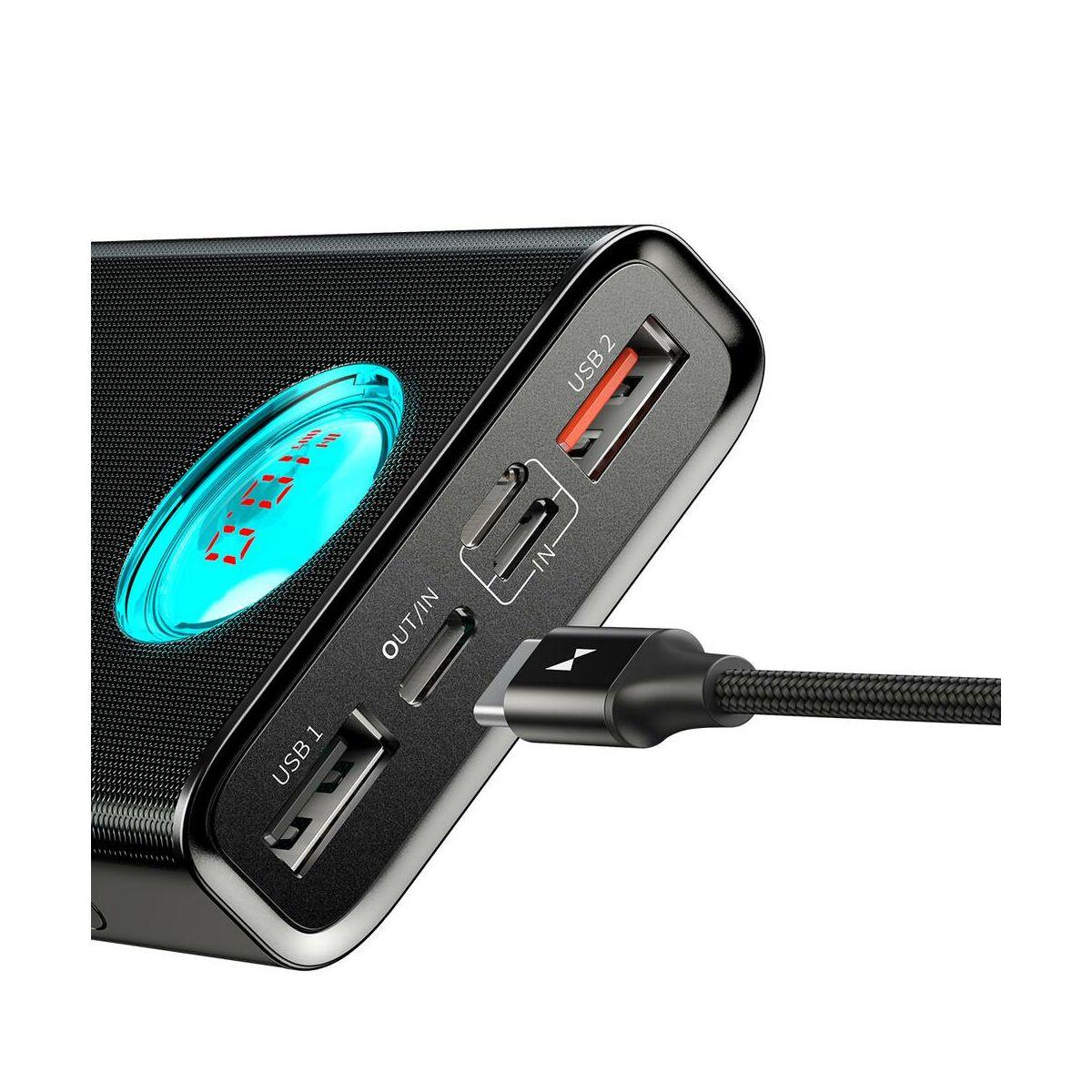 Baseus Power Bank Amblight kijelzővel (PD3.0, QC3.0) 18W 20000 mAh, fekete (PPALL-LG01)