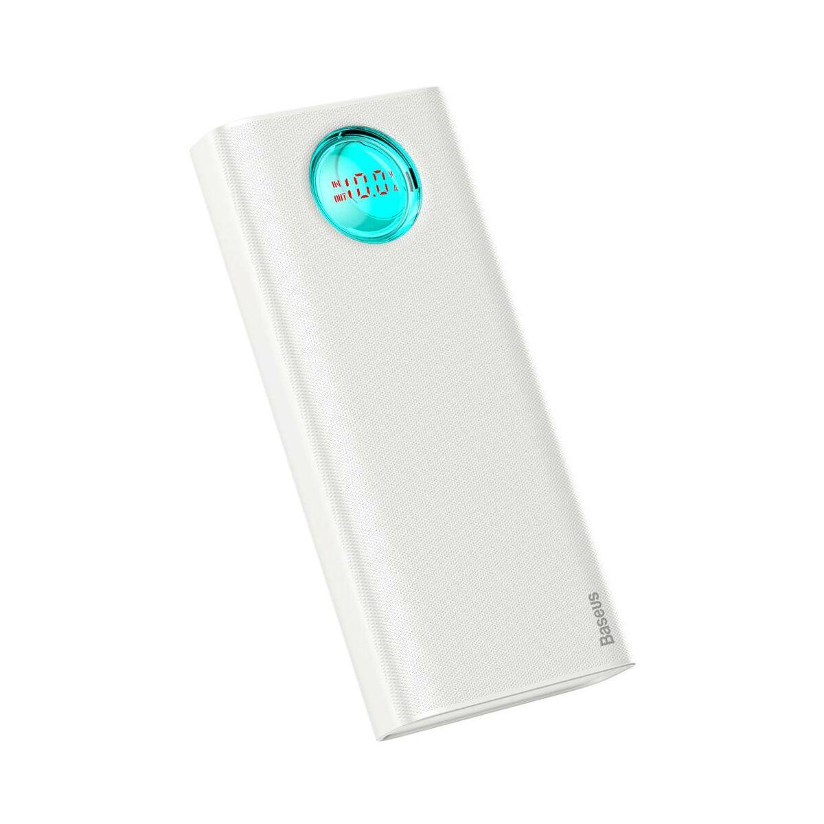 Baseus Power Bank Amblight kijelzővel (PD3.0, QC3.0) 18W 20000 mAh, fehér (PPALL-LG02)