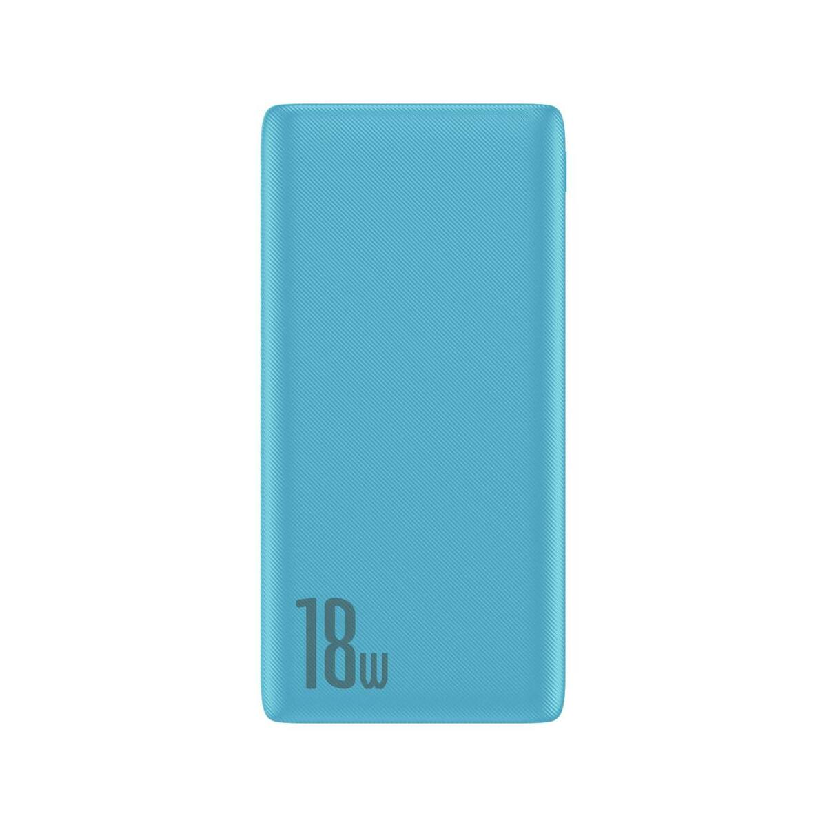 Baseus Power Bank Bipow gyors töltős Power Bank PD+QC kimenettel 3A 10000 mAh 18W, kék (PPDML-03)
