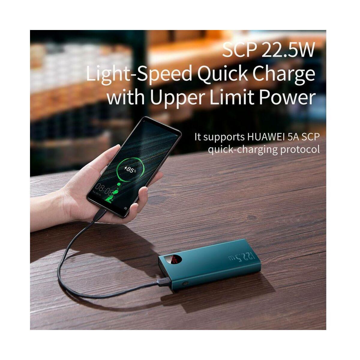 Baseus Power Bank Adaman PD3.0 18W, Quick Charge QC3.0 22.5W, 20000 mAh, zöld (PPIMDA-A06)