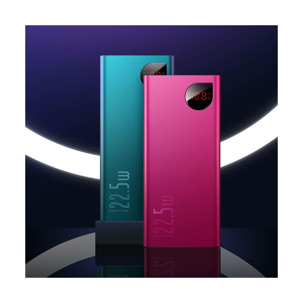 Baseus Power Bank Adaman PD3.0 18W, Quick Charge QC3.0 22.5W, 20000 mAh, piros (PPIMDA-A09)
