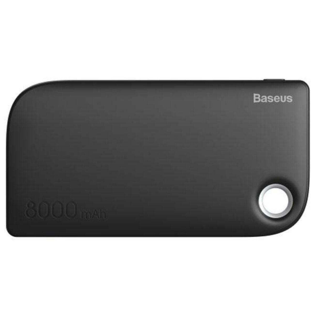 Baseus Power Bank Fan, (Micro USB bemenet / dupla USB kimenet), 2.4A, 8.000 mAh, fekete (PPM11-01)