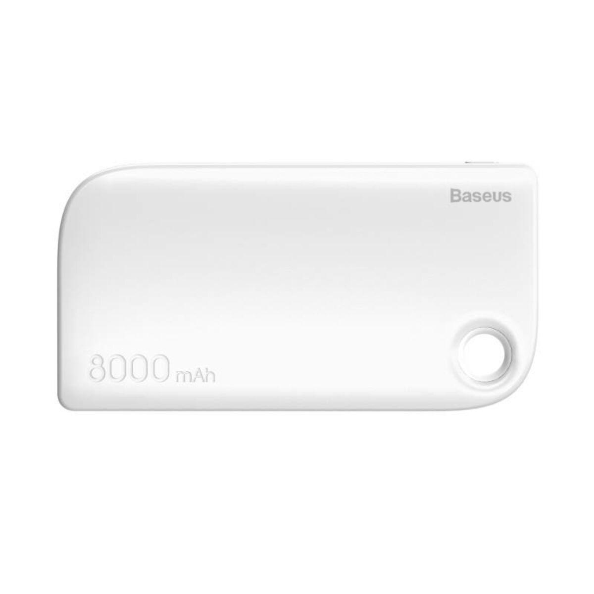 Baseus Power Bank Fan, (Micro USB bemenet / dupla USB kimenet), 2.4A, 8.000 mAh, fehér (PPM11-02)