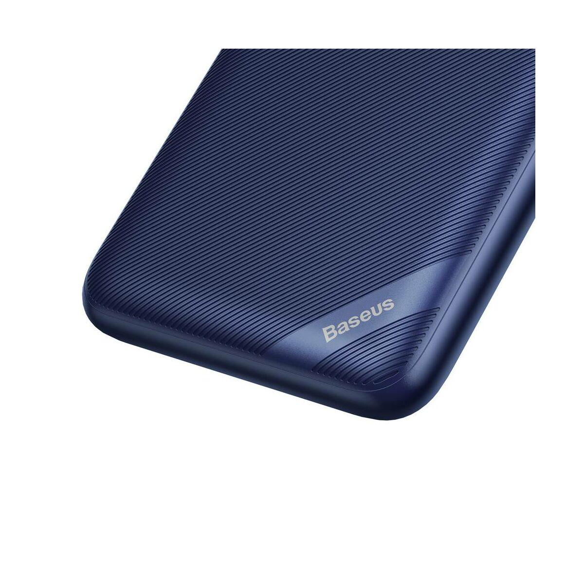 Baseus Power Bank vez. nélk. tölt. S10 Bracket (Micro USB + Type-C bem. / 2xUSB + Type-C PD kim.), 18W, 2.4A, 10.000 mAh, kék (PPS10-03)