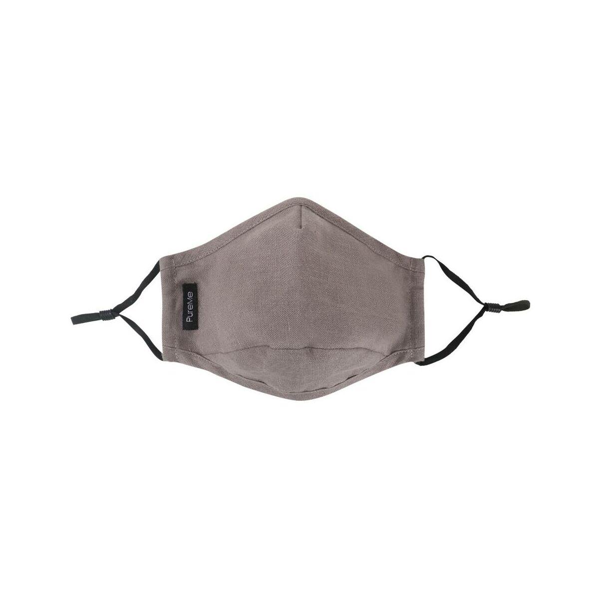 PureMe Maszk, Újrafelhasználható, Állítható füllel, Vászon, 2db N95 szűrővel a csomagban, szürke