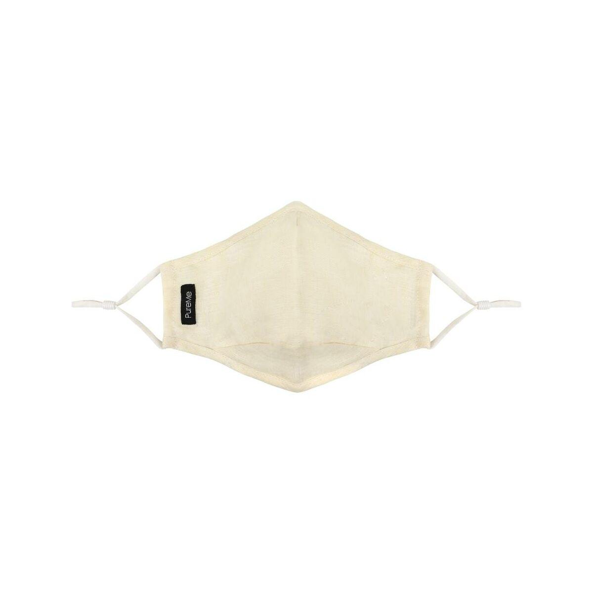 PureMe Maszk, Újrafelhasználható, Állítható füllel, Vászon, 2db N95 szűrővel a csomagban, krém