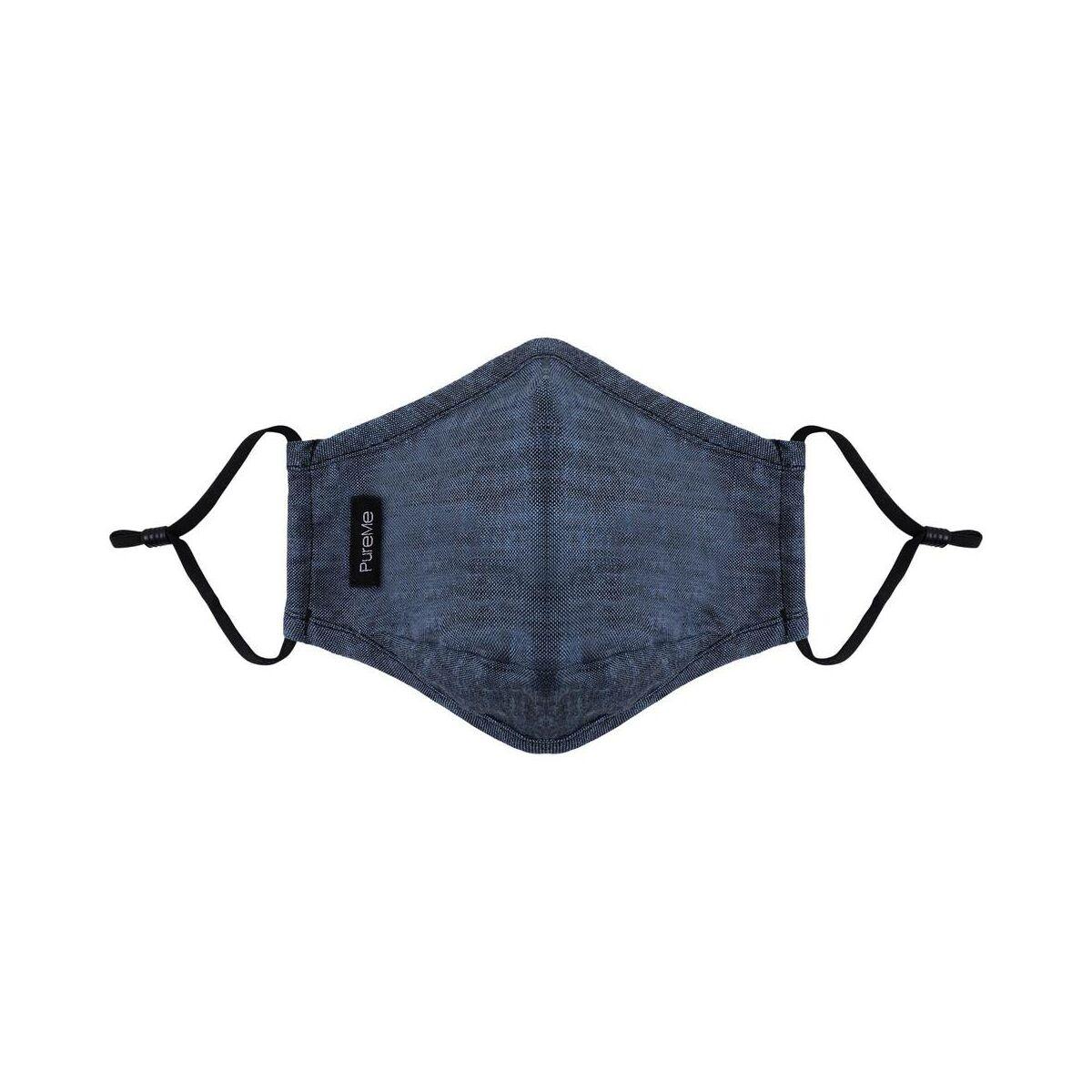 PureMe Maszk, Újrafelhasználható, Állítható füllel, Vászon, 2db N95 szűrővel a csomagbann, kék