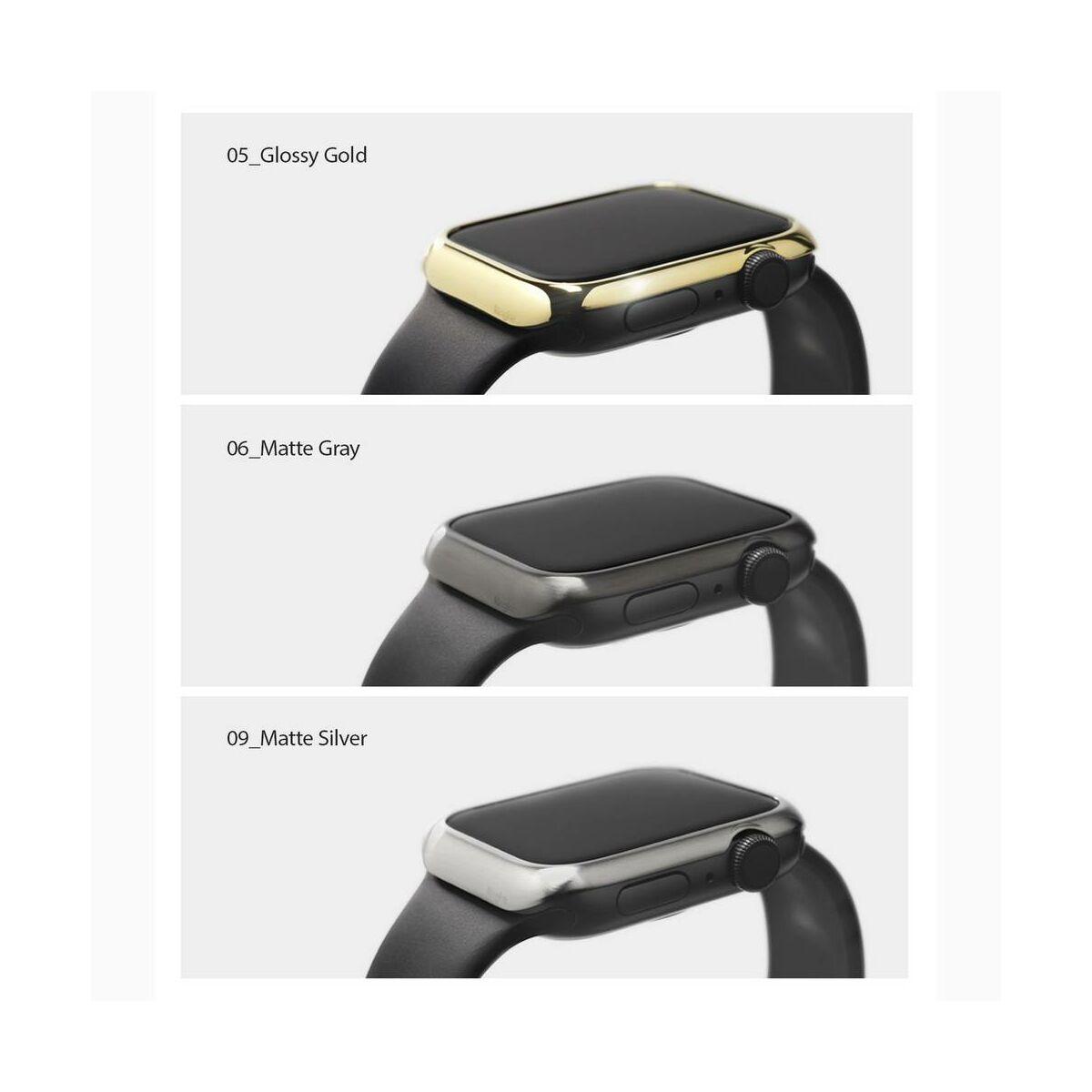 Ringke Apple Watch kijelzővédő  acélkeret, Bezel  Styling 40mm - AW4-40-06 (Stainless Steel), Szürke
