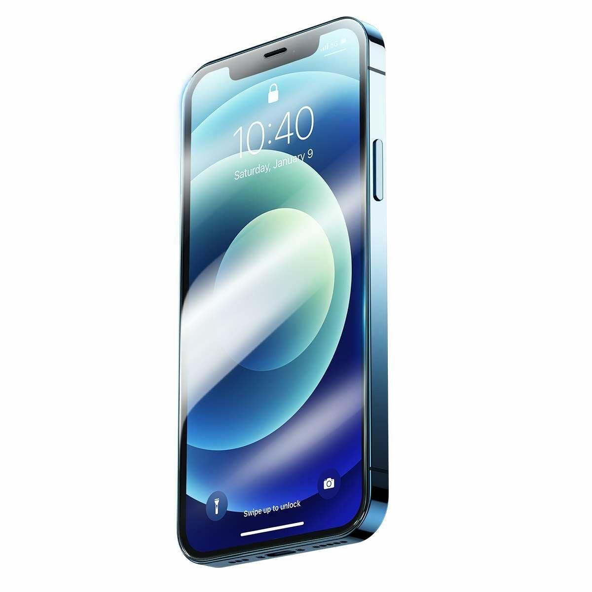 Baseus iPhone 12 mini 0.3 mm, teljes felületre Super porcelán kristály Edzett üvegfólia (2db/doboz) átlátszó (SGAPIPH54N-LI02)