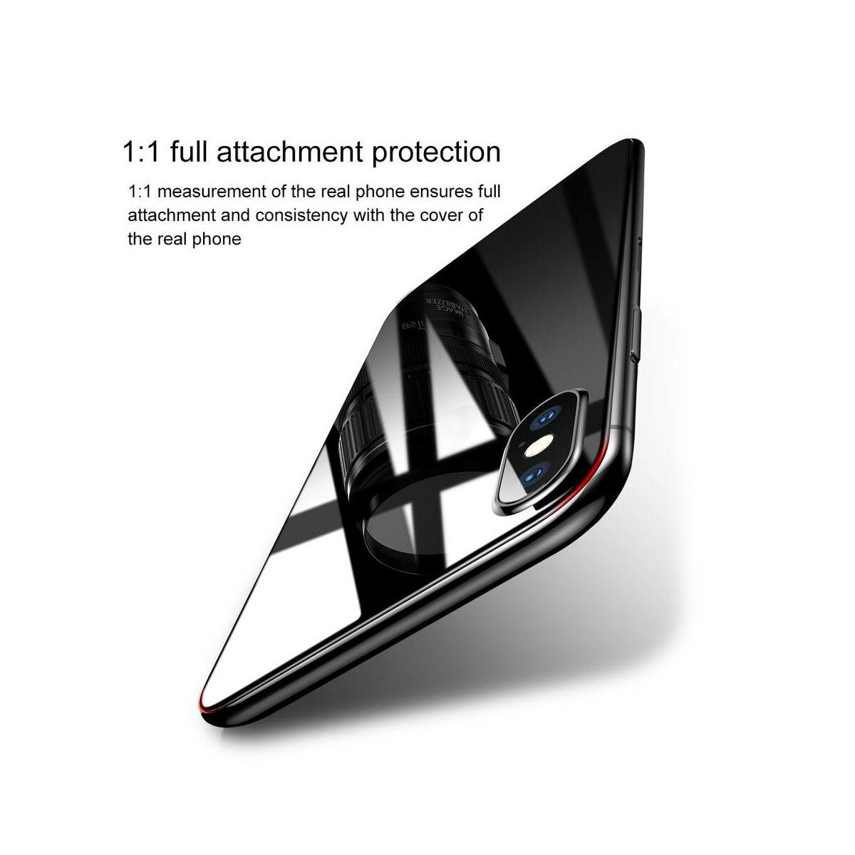 """Baseus iPhone XS (5.8"""") 0.3 mm, kijelzővédő üvegfólia (előlap + hátlap), átlátszó (SGAPIPH58-TZ02)"""
