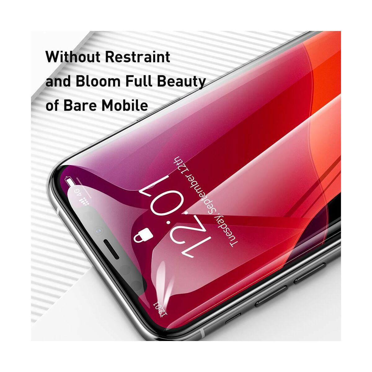 """Baseus iPhone 11 Pro (5.8"""") 0.3 mm, teljes felületre, (2db a csomagban) edzett üveg, fekete (SGAPIPH58S-KC01)"""