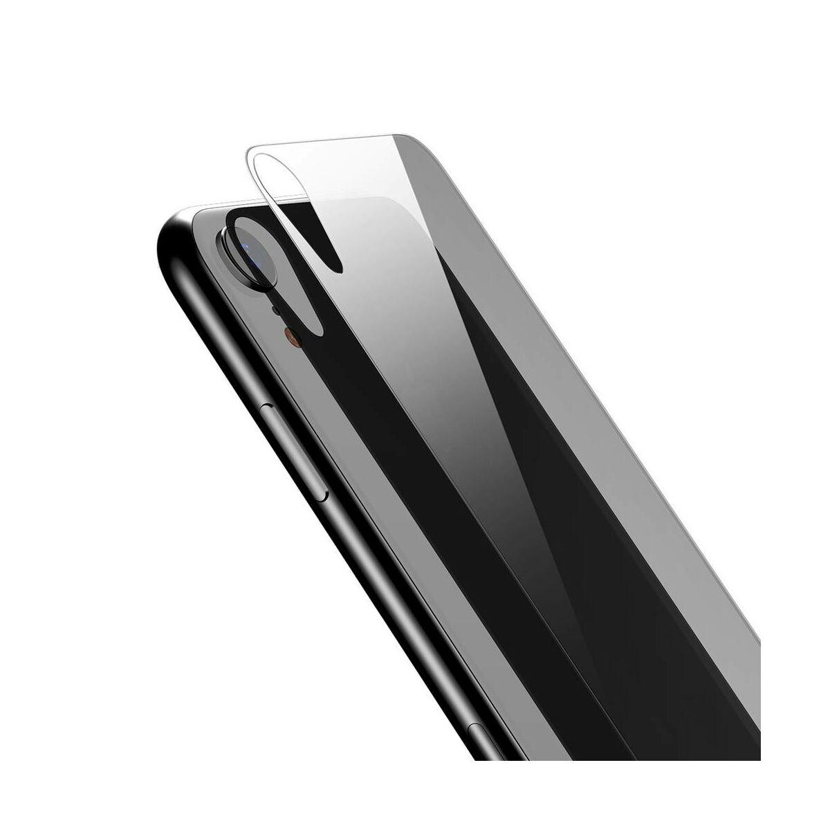 """Baseus iPhone XR/ 11 (6.1"""") 0.3 mm, edzett üveg hátlap védő fólia, átlátszó (SGAPIPH61-ABM02)"""