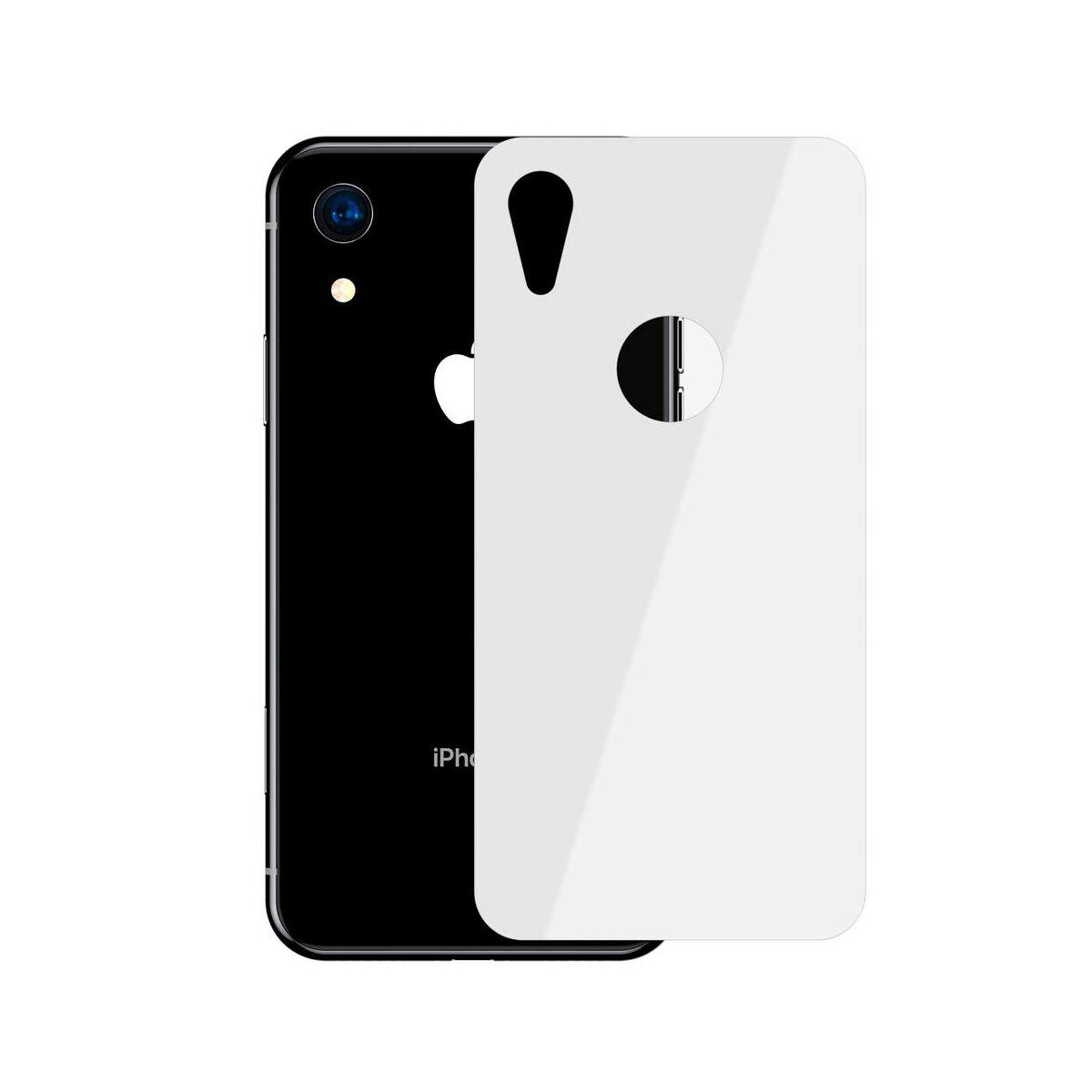 """Baseus iPhone XR/ 11 (6.1"""") 0.3 mm, teljes felületre edzett üveg hátlap védő fólia, fehér (SGAPIPH61-BM02)"""