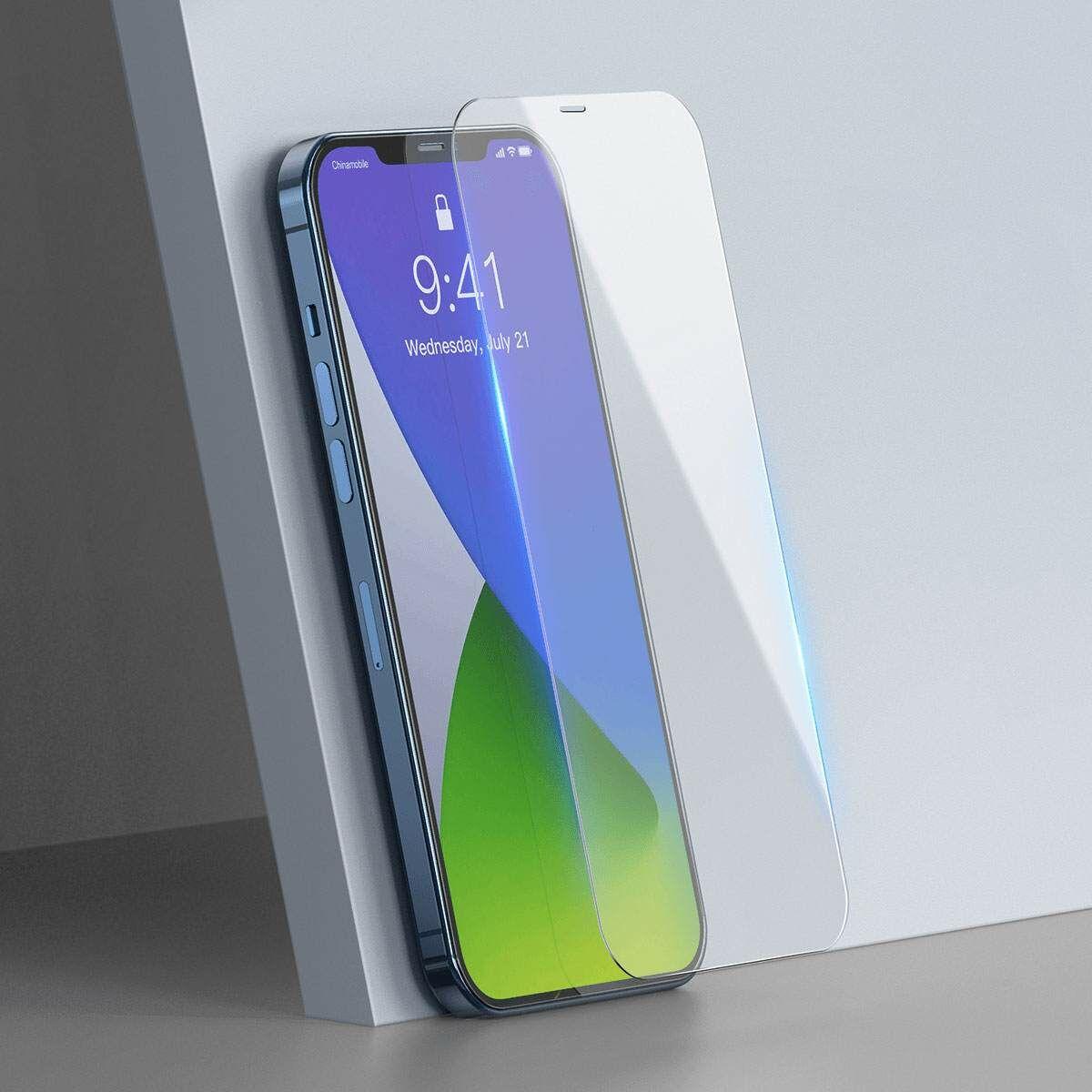 Baseus iPhone 12/12 Pro 0.3 mm, teljes fefületre, edzett üveg (2 db), fehér (SGAPIPH61P-LS02)