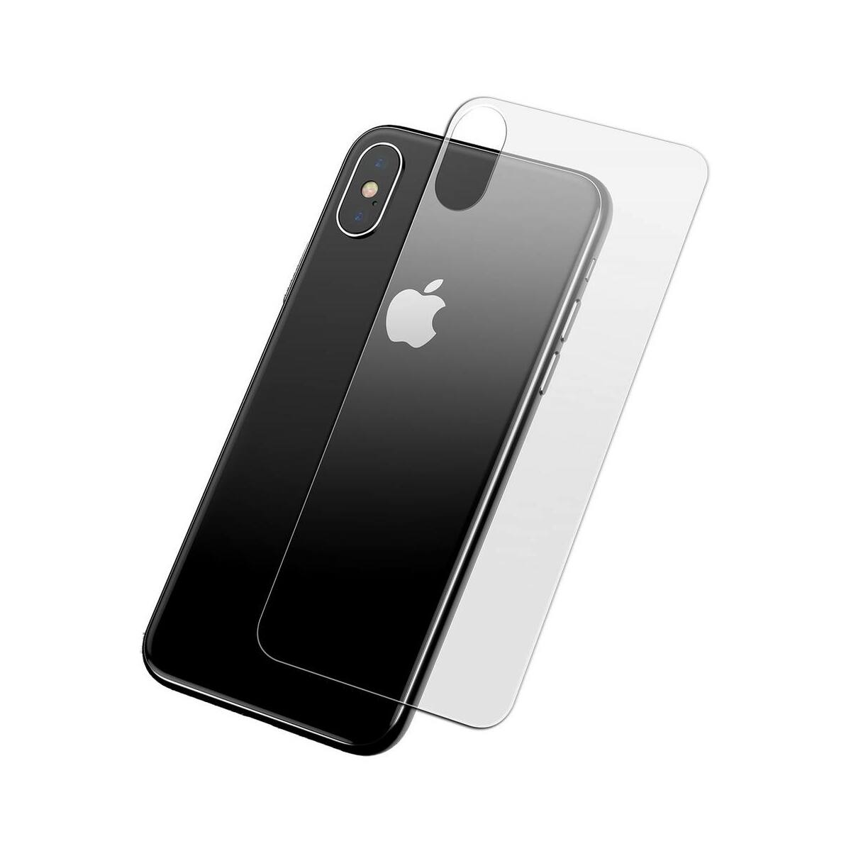 """Baseus iPhone XS Max (6.5"""") 0.3 mm, teljes felületre, edzett üveg kijelzővédő fólia, átlátszó (SGAPIPH65-ABM02)"""