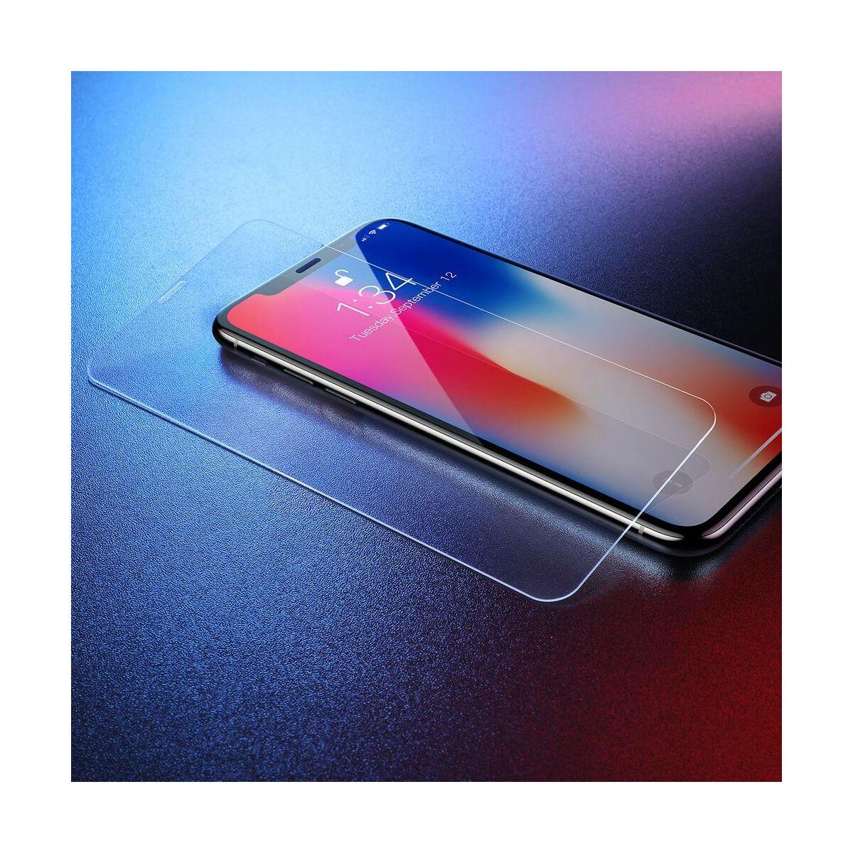 """Baseus iPhone XS Max (6.5"""") 0.3 mm, edzett üveg kijelzővédő fólia, átlátszó (SGAPIPH65-ES02)"""