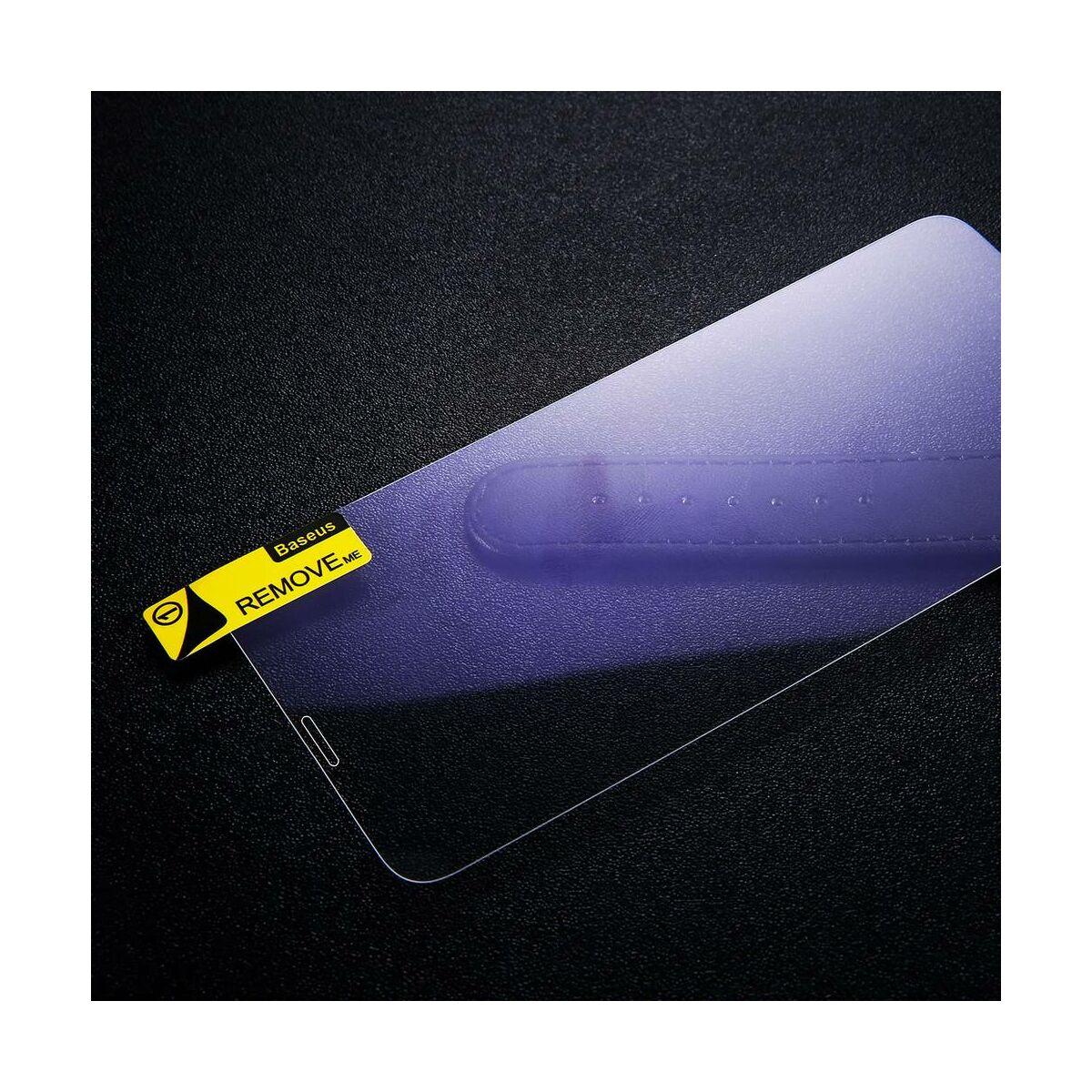"""Baseus iPhone XS Max (6.5"""") 0.15 mm, kékfény szűrős edzett üveg kijelzővédő fólia, átlátszó (SGAPIPH65-FC02)"""