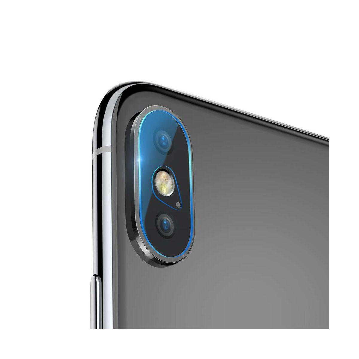 Baseus iPhone XS Max kamera lencse üveg fólia 0.2 mm, átlátszó (SGAPIPH65-JT02)