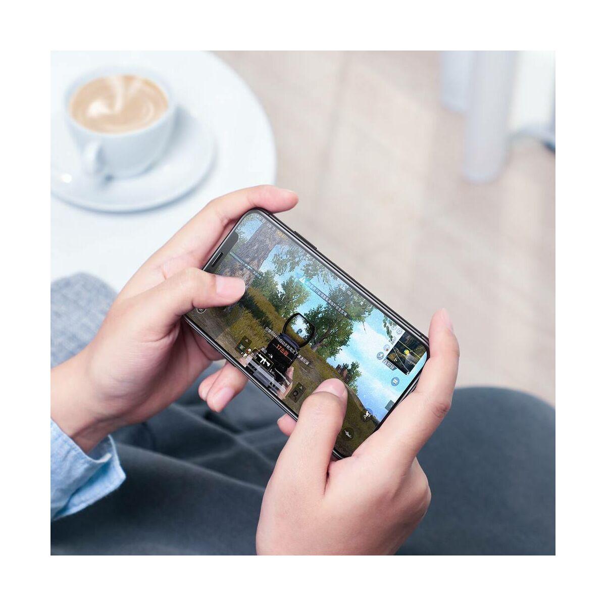 """Baseus iPhone XS Max (6.5"""") 0.3 mm, teljes felületre lekerekített matt edzett üveg, fekete (SGAPIPH65-KM01)"""