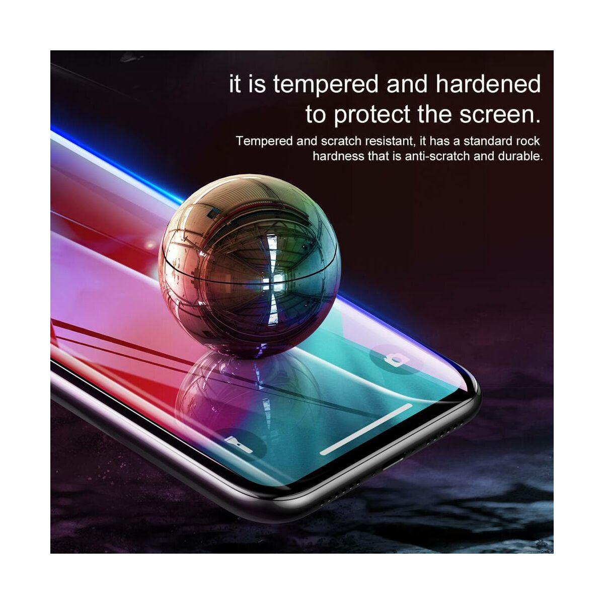 """Baseus iPhone XS Max (6.5"""") 0.23 mm, repedésálló teljes felületre, edzett üveg kijelzővédő fólia, fekete (SGAPIPH65-PE01)"""