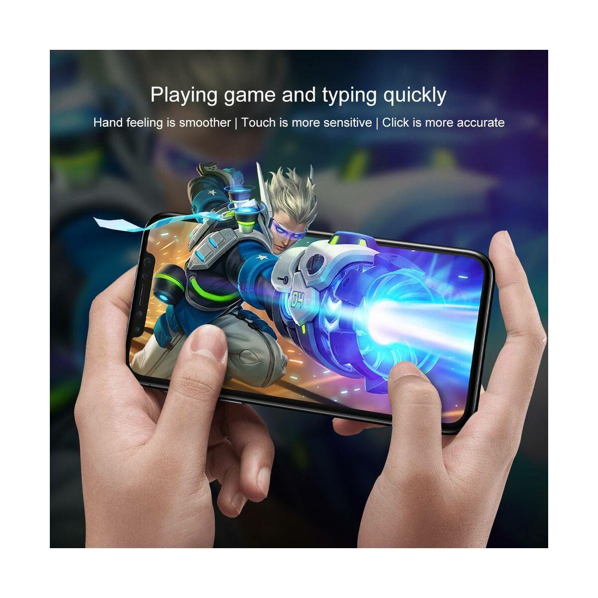 """Baseus iPhone XS Max (6.5"""") 0.3 mm, üveg fólia szett (előlap + hátlap), átlátszó (SGAPIPH65-TZ02)"""