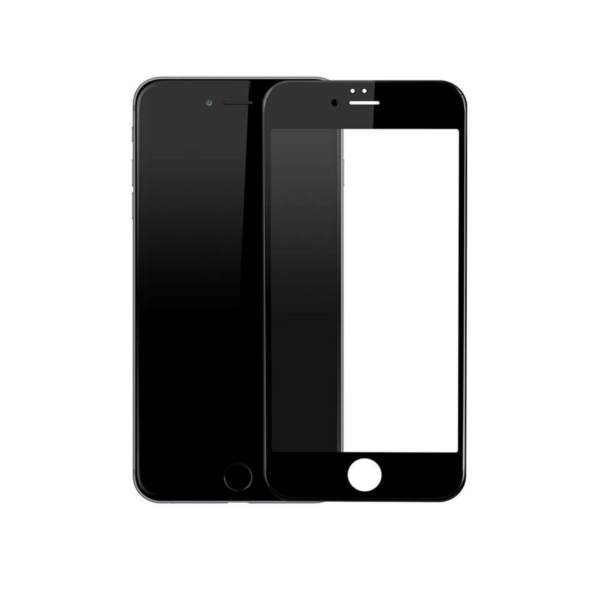 Baseus iPhone 6/6s 0.3 mm, teljes felületre edzett üveg kijelzővédő fólia, fekete (SGAPIPH6S-B3D01)