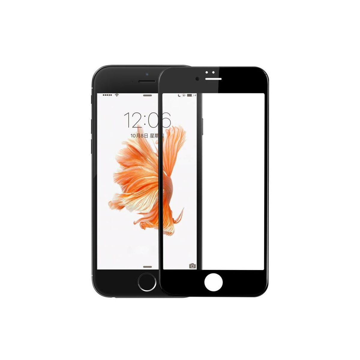 Baseus iPhone 6/6s 0.23 mm, teljes felületre, Anti-break edge lekerekített edzett üveg, fehér (SGAPIPH6S-DE02)