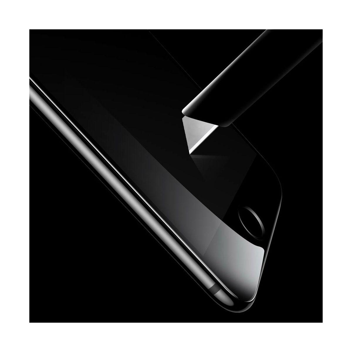 Baseus iPhone 6/6s Plus 0.3 mm, teljes felületre edzett üveg kijelzővédő fólia, fekete (SGAPIPH6SP-B3D01)