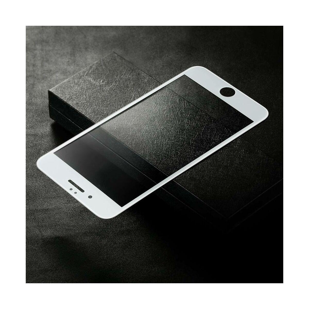 Baseus iPhone 6/6s Plus 0.3 mm, teljes felületre edzett üveg kijelzővédő fólia, fehér (SGAPIPH6SP-B3D02)