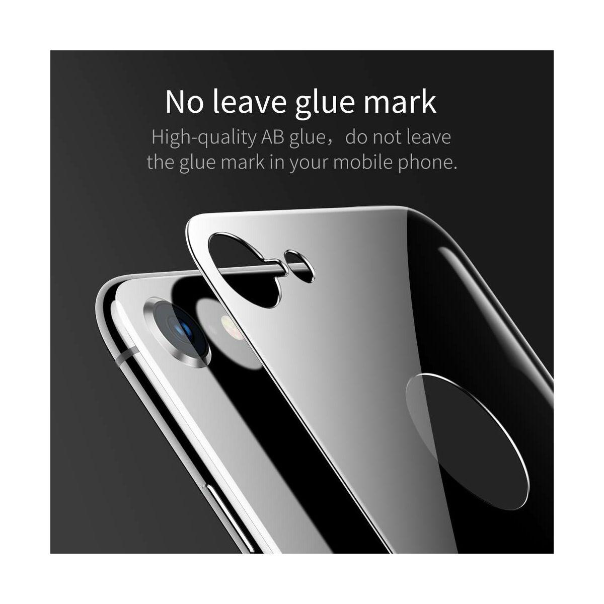 Baseus iPhone 8/7 0.3 mm, teljes lefedésre hátlap edzett üveg fólia, asztro szürke (SGAPIPH8N-4D0G)