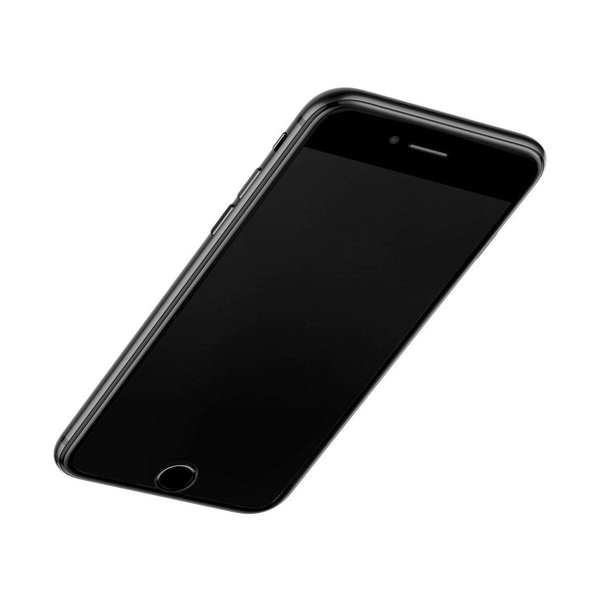 Baseus iPhone 8/7 0.23 mm, teljes felületre edzett üveg, törésálló élek, kékfény szűrős, fekete (SGAPIPH8N-HPE01)