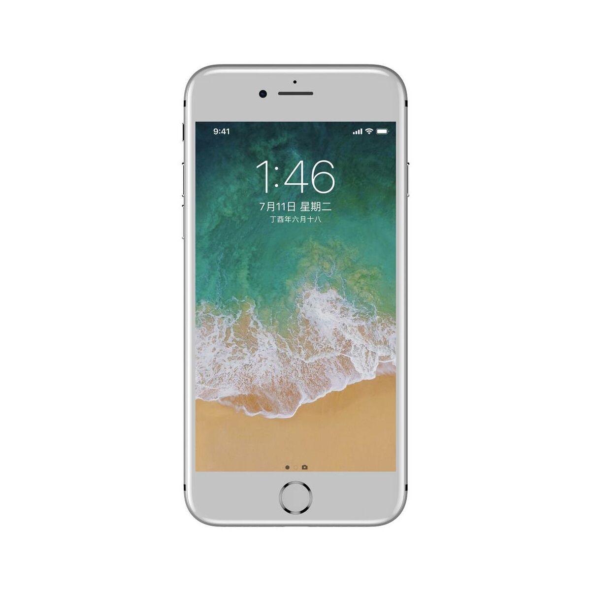 Baseus iPhone 8/7/6 0.23 mm, teljes felületre lekerekített edzett üveg por elleni védelem, fehér (SGAPIPH8N-WA02)