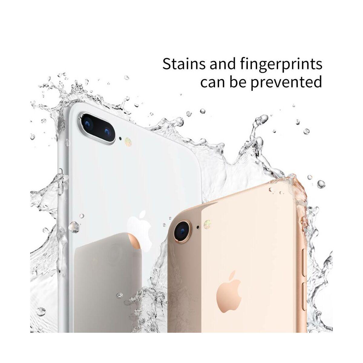 Baseus iPhone 8/7 Plus 0.3 mm, 4D teljes lefedésre hátlap edzett üveg fólia, ezüst (SGAPIPH8P-4D0S)