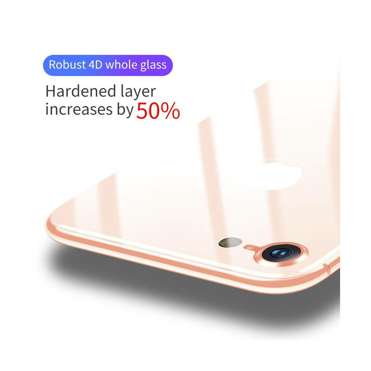 Baseus iPhone 8/7 Plus 0.3 mm, 4D teljes lefedésre hátlap edzett üveg fólia, arany (SGAPIPH8P-4D0V)