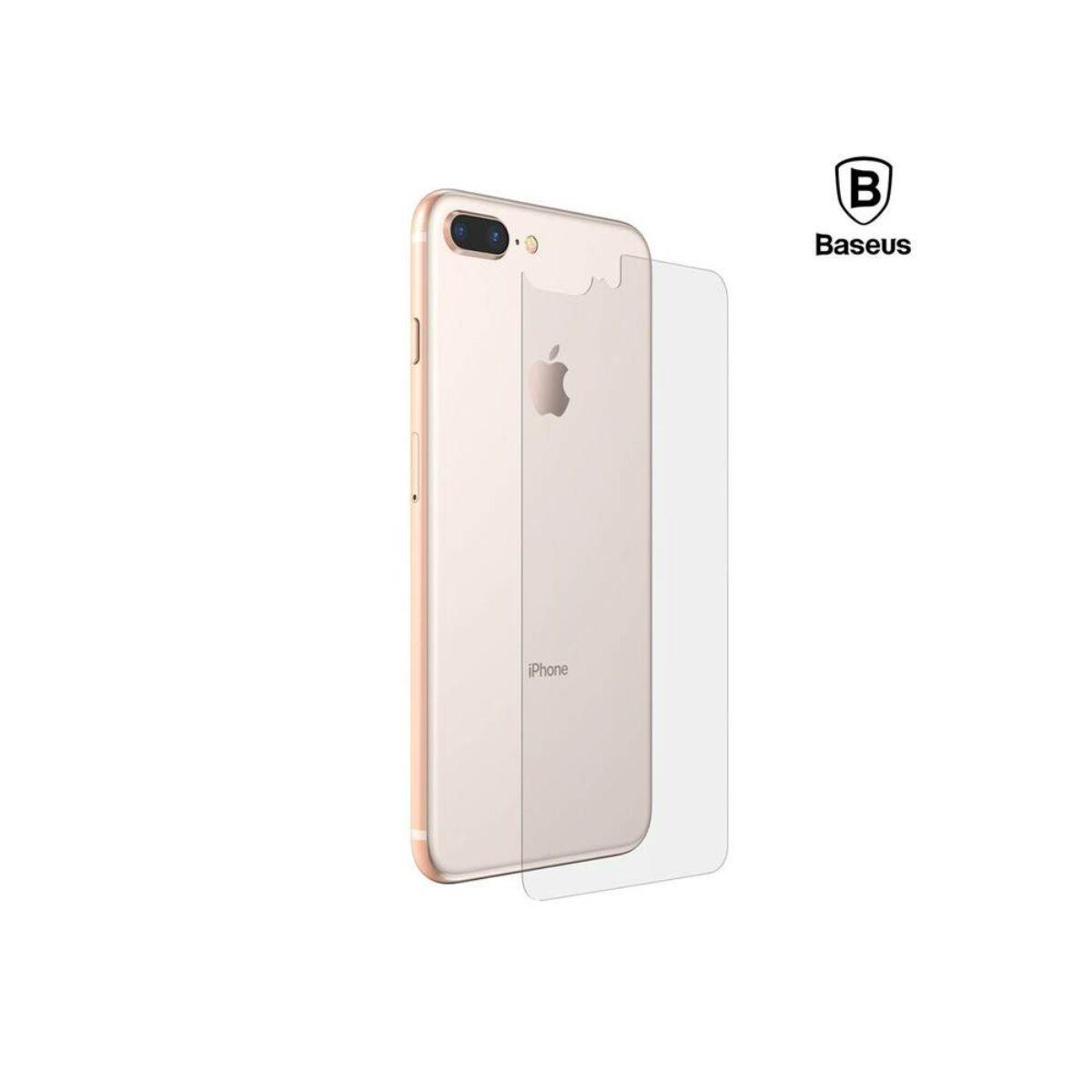 Baseus iPhone 8/7 Plus 0.3 mm, teljes üveg hátlap edzett üveg fólia, átlátszó (SGAPIPH8P-BM02)