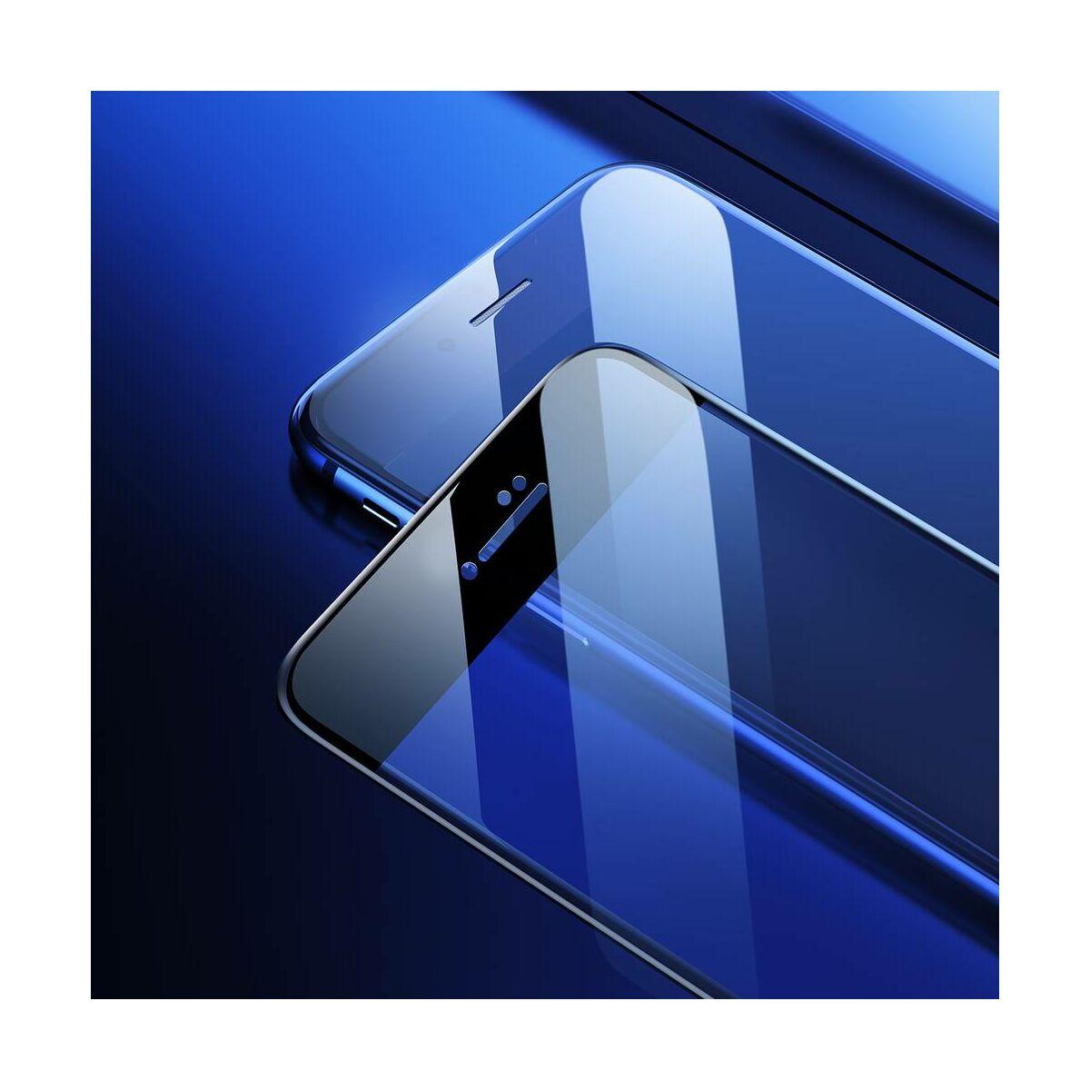 Baseus iPhone 8/7 Plus 0.23 mm, teljes felületre edzett üveg, törésálló élek, fekete (SGAPIPH8P-GPE01)