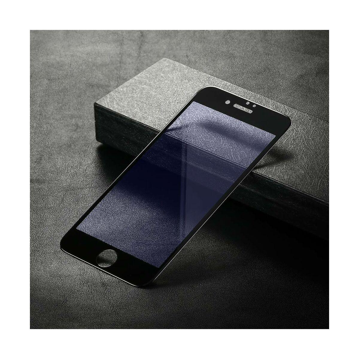 Baseus iPhone 8/7 Plus 0.2 mm, teljes felületre kékfény szűrős edzett üveg kijelzővédő fólia, fekete SGAPIPH8P-HES01