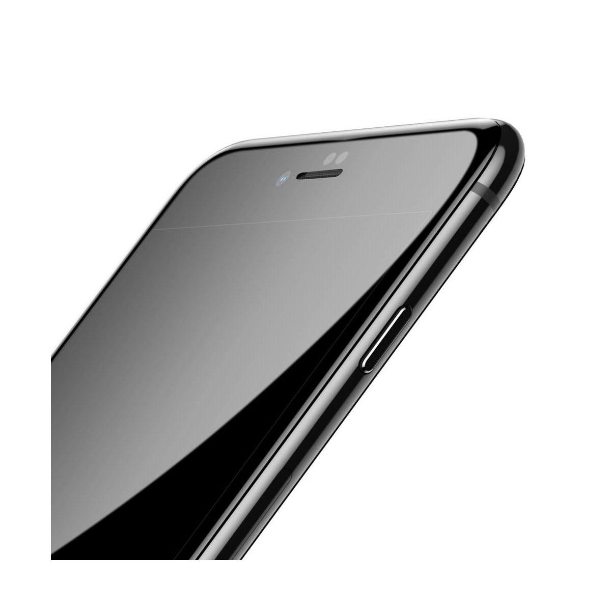 Baseus iPhone 8/7 Plus 0.3 mm, teljes felületre edzett üveg kijelzővédő fólia, fekete (SGAPIPH8P-KA01)