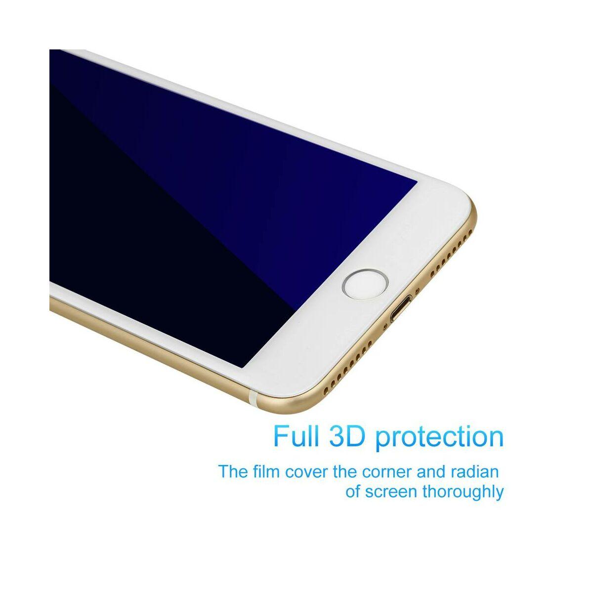 Baseus iPhone 8/7 Plus 0.23 mm, erősített, teljes felületre kékfény szűrős edzett üveg kijelzővédő fólia, fehér (SGAPIPH8P-TES02)