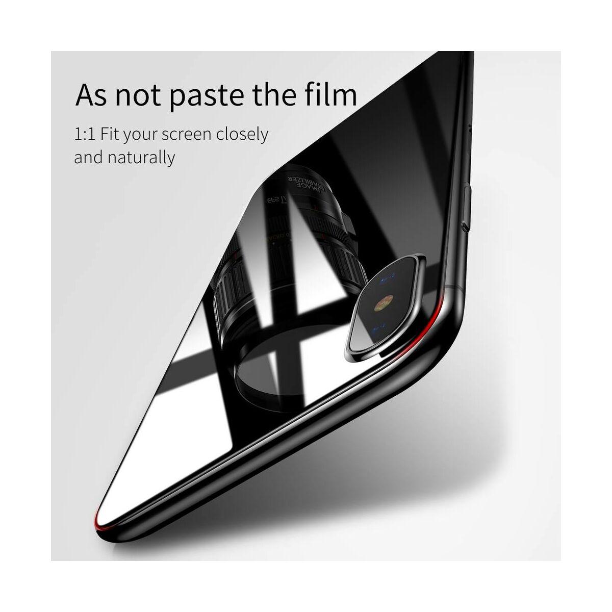 """Baseus iPhone X/XS (5.8"""") 0.3 mm, Üveg fólia szett (előlap + hátlap), átlátszó (SGAPIPHX-TZ02)"""