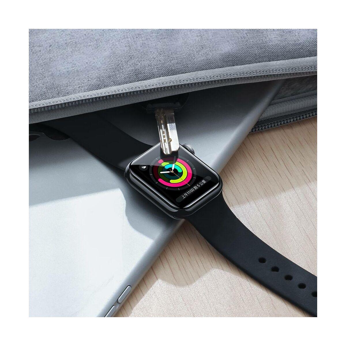 Baseus iWatch 0.2 mm, teljes felületre, ívelt szélek, edzett üveg, 38 mm, fekete (SGAPWA4-E01)