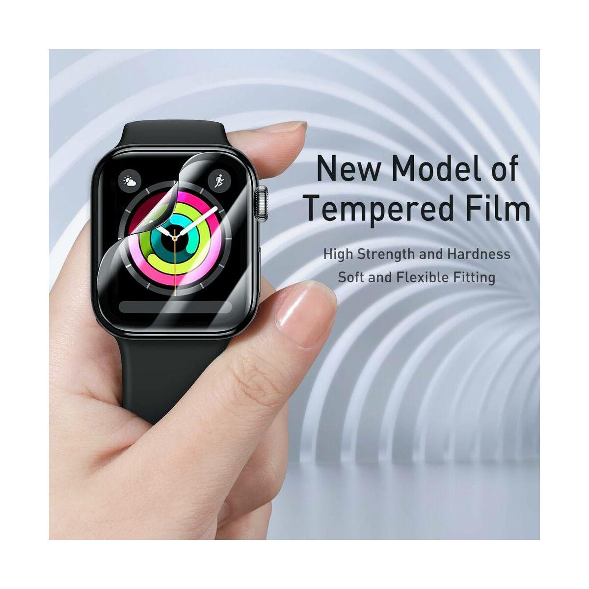 Baseus iWatch 0.2 mm, teljes felületre, ívelt szélek, edzett üveg, 42 mm, fekete (SGAPWA4-F01)