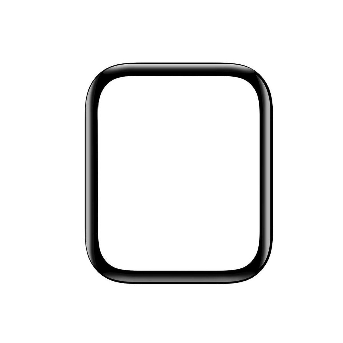 Baseus iWatch 0.2 mm, teljes felületre, ívelt szélek, edzett üveg, 40 mm, fekete (SGAPWA4-G01)