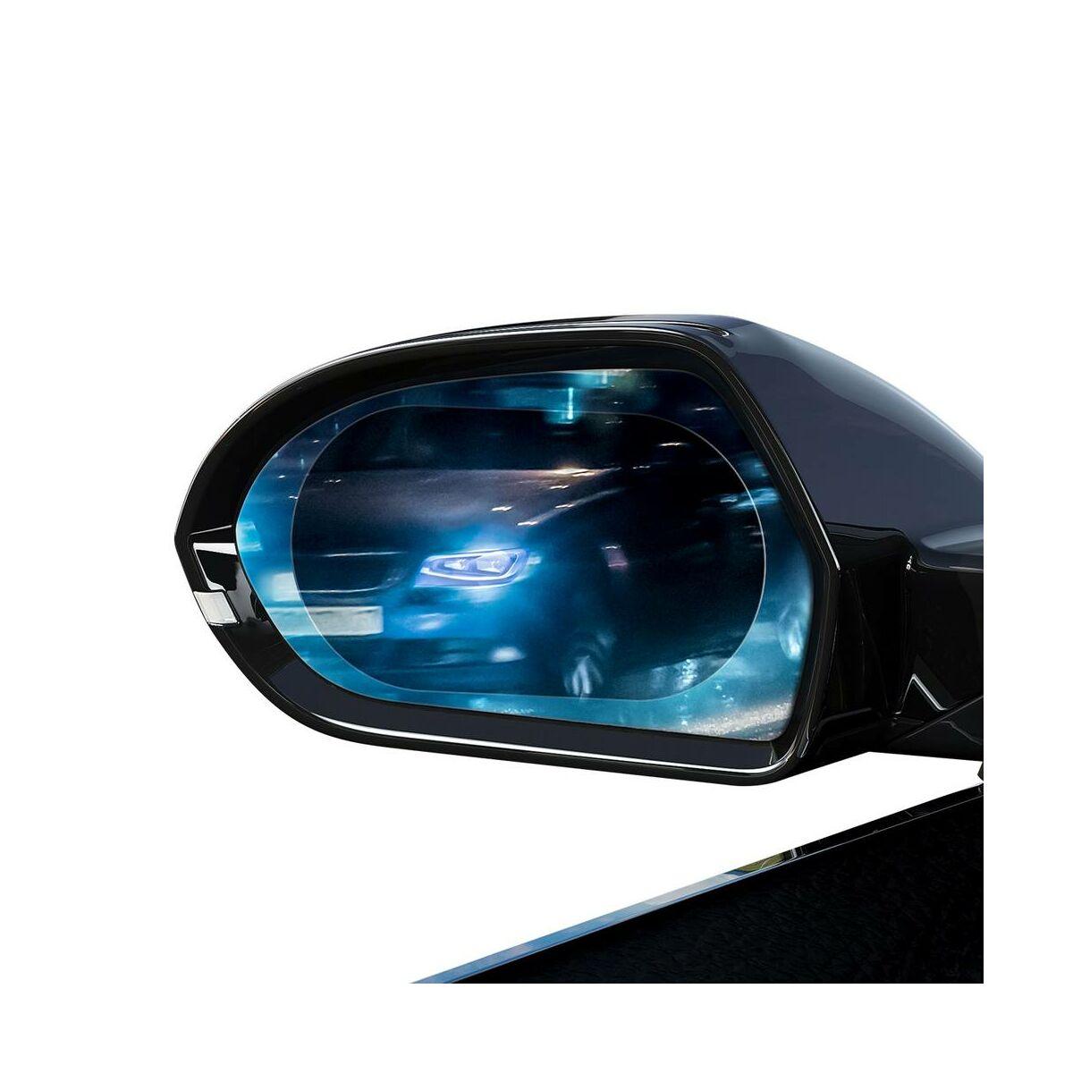 Baseus autós kiegészítő, 0.15mm, tükörre ragasztható eső lepergető filmréteg, (Ovális 2 db/csomag, 135*95 mm) átlátszó (SGFY-C02)