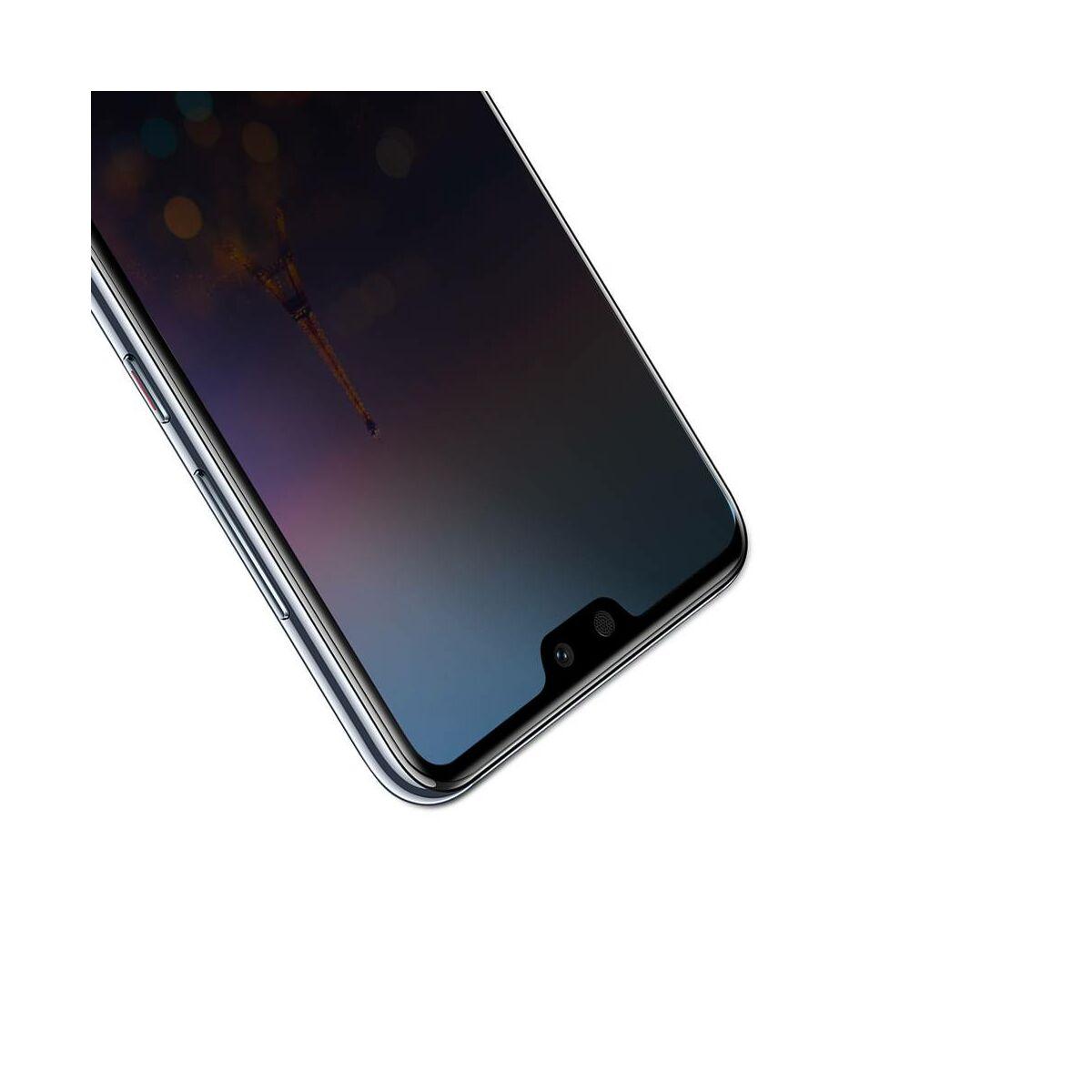Baseus Huawei P20 Pro 0.3 mm, Anti-spy edzett üveg kijelzővédő fólia, fekete (SGHWP20P-TG01)