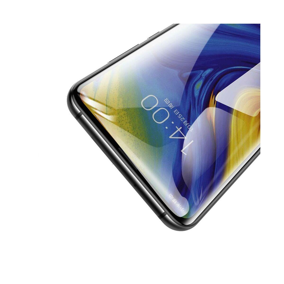 Baseus Xiaomi Mi Mix 3 teljes felületre edzett üveg kijelzővédő fólia, fekete (SGMIMIX3-KC01)