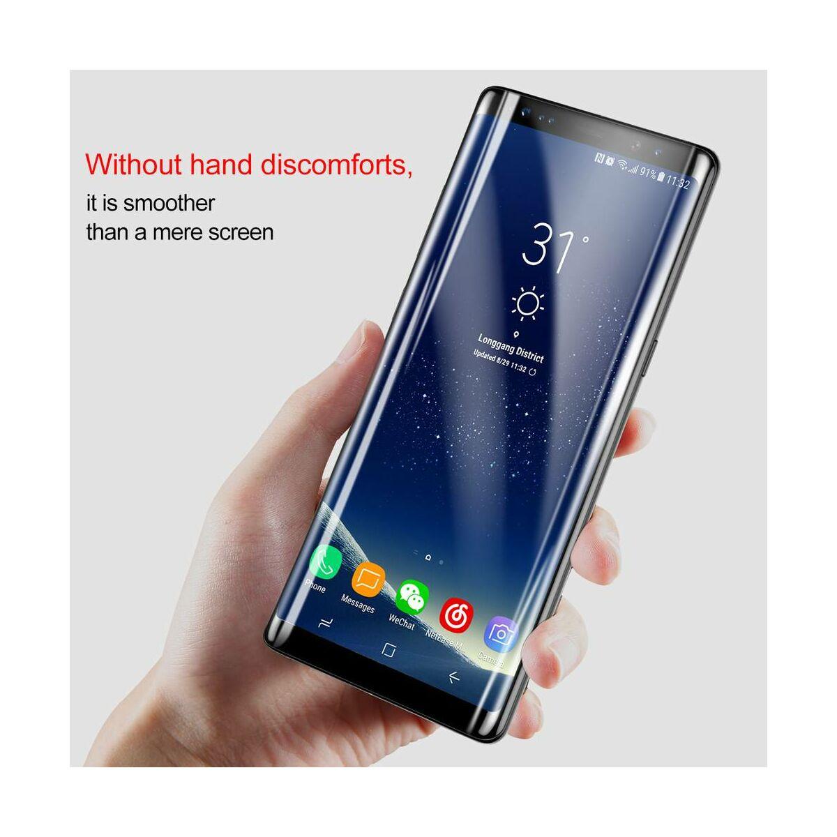 Baseus Samsung Note 8 0.3 mm, teljes felületre edzett üveg kijelzővédő fólia, fekete (SGSANOTE8-3D01)