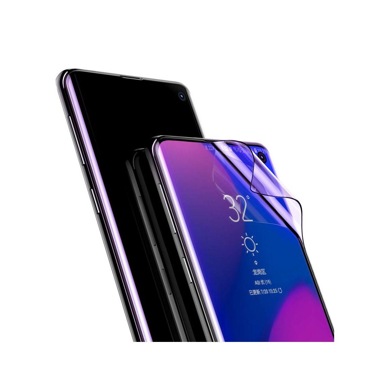 Baseus Samsung S10 0.15 mm, teljes felületre kékfény szűrős kijelzővédő film, fekete (SGSAS10-KS01)